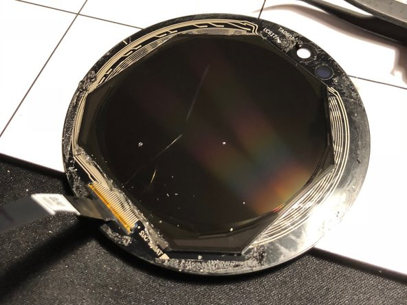 Display module is round and glued to the cover glass