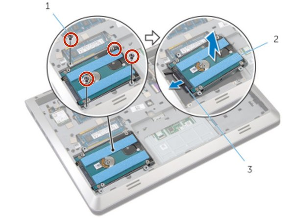 Remove the screws that secure the hard-drive assembly to the base frame.