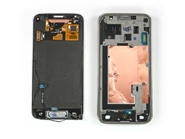Image 3/3: Pull the display assembly away from the phone to remove it.
