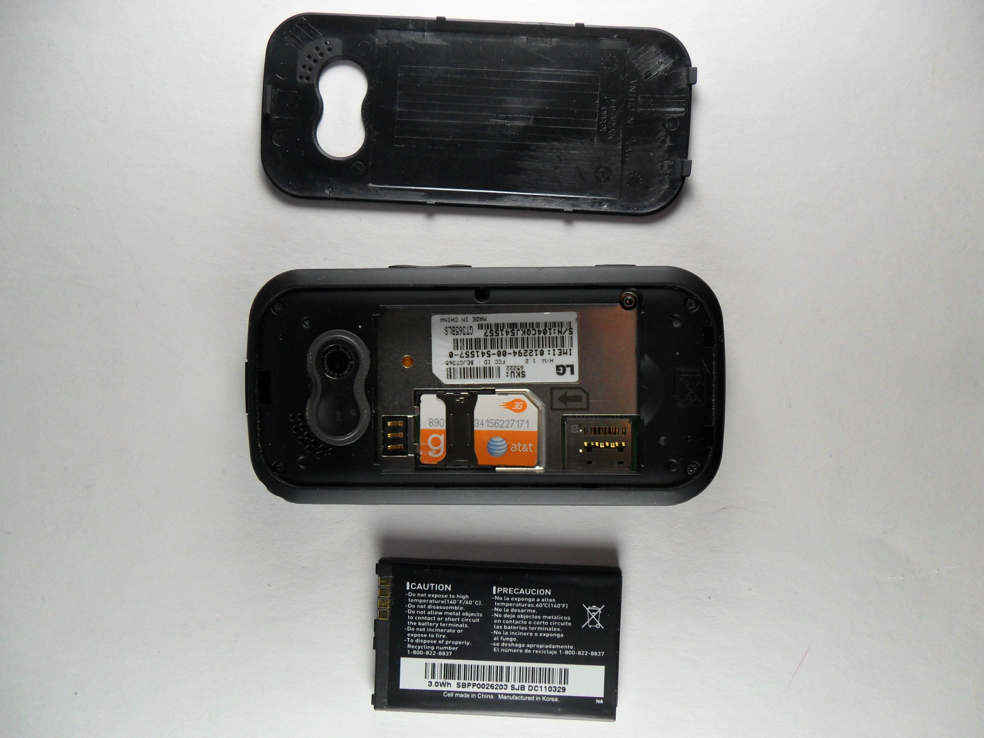 Lg Neon Gt 365 Battery Replacement Ifixit Repair Guide Short Circuit No Disassemble