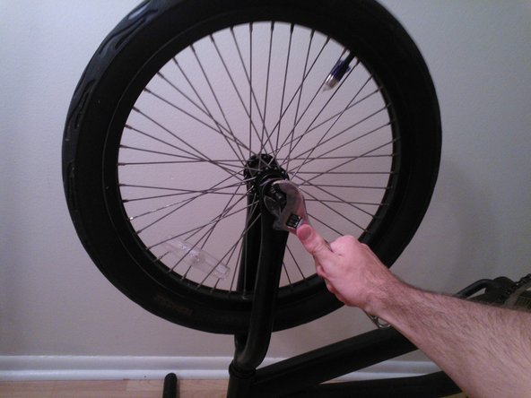 Now that the bolts are loose you may remove the wheel from the bike.