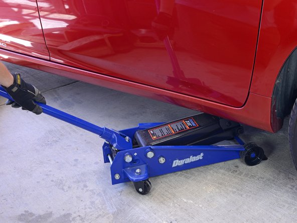 When you've finished servicing your vehicle, use the jack to raise it back up an inch or so, and remove the jack stand(s).
