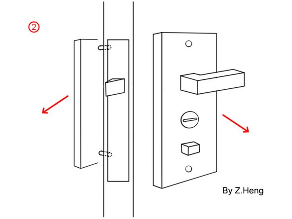 Use pry bar carefully pry around, you can remove both sides of the door handle.