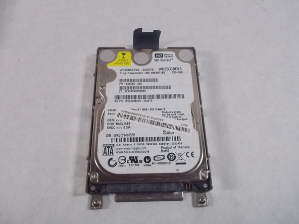 Remove the hard drive from the case.