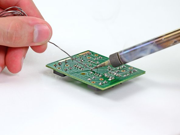 Image 1/3: Even though the leads aren't excessively long, you'll need to trim them after soldering.
