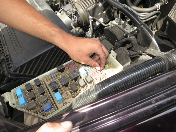 Replace the bad fuse with a new one.