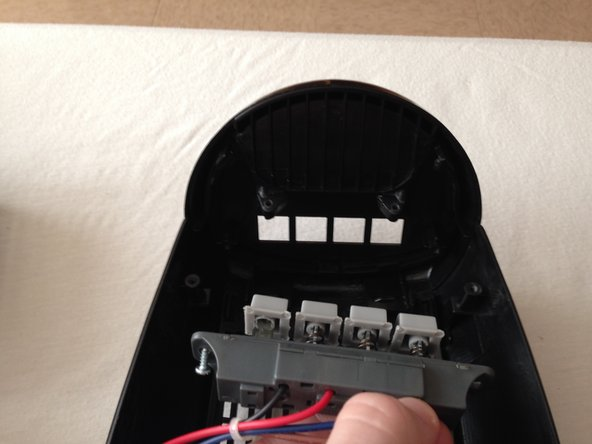 Carefully remove the panel by pulling on it. It should fall out easily and separate completely from its housing.