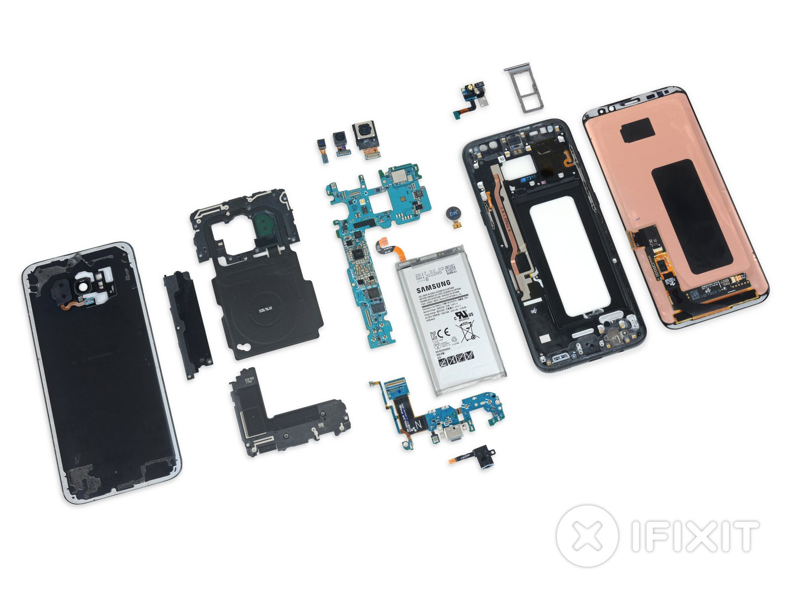 Vue éclatée du Samsung Galaxy S8+