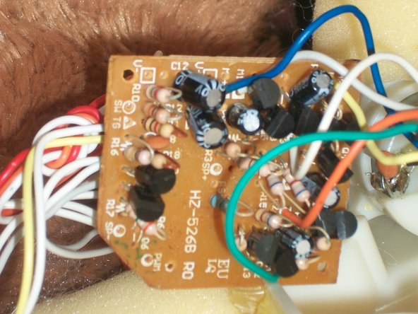 Turning the board over you will be able to see the red wire is labelled v positive, white wire is v negative and the orange is SW (Abbreviation for SWitch)
