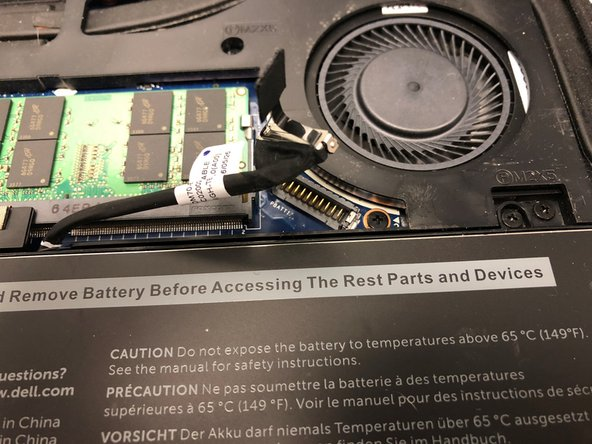 Important Disconnect the battery before any work is done. Failure to do so could result in electric shock and cause harm to you and the laptop.