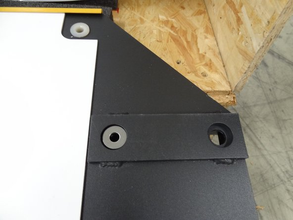 Install the rear panel onto the floor panel