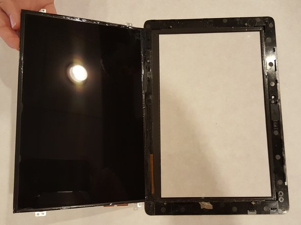 Once removed, replace the glass screen back onto the LCD display.