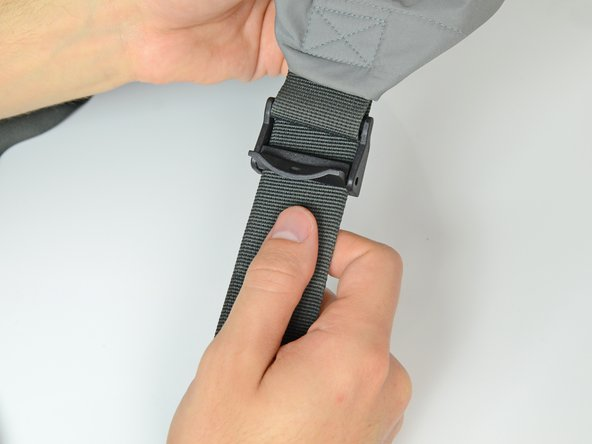 Image 2/3: Close or clip any fasteners on your buckles.
