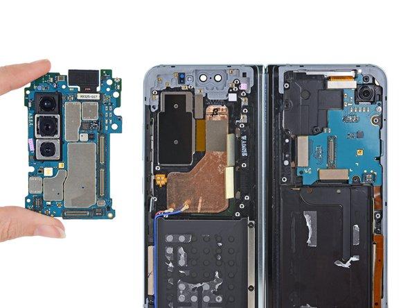 The six cameras found in the Samsung Galaxy Fold teardown
