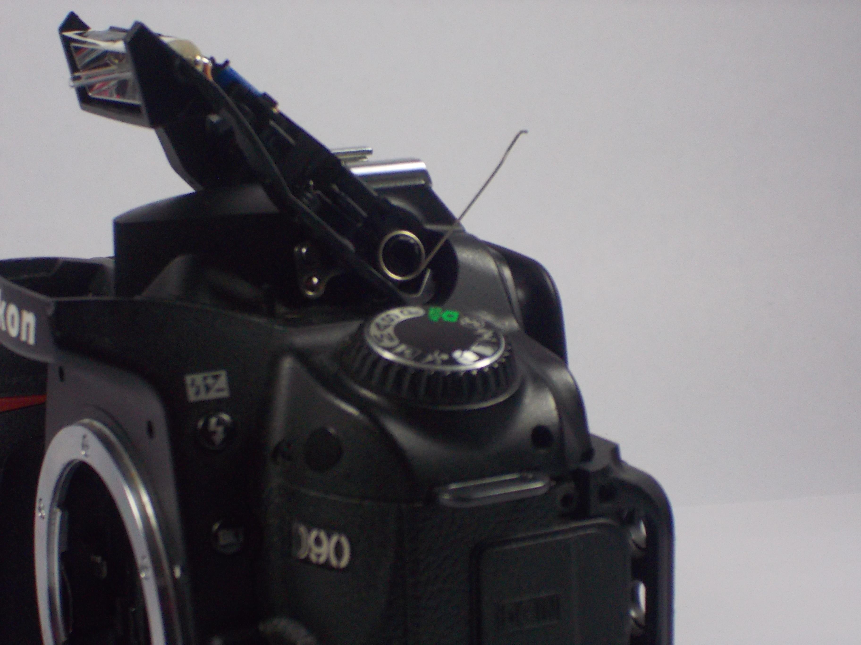 Nikon D90 Repair Ifixit Diagram Of A Dslr Camera Digital Block Flash Hinge Spring