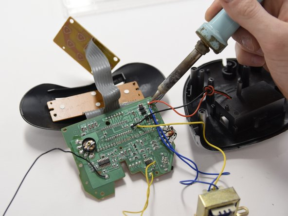 Remove all the electrical components by desoldering.