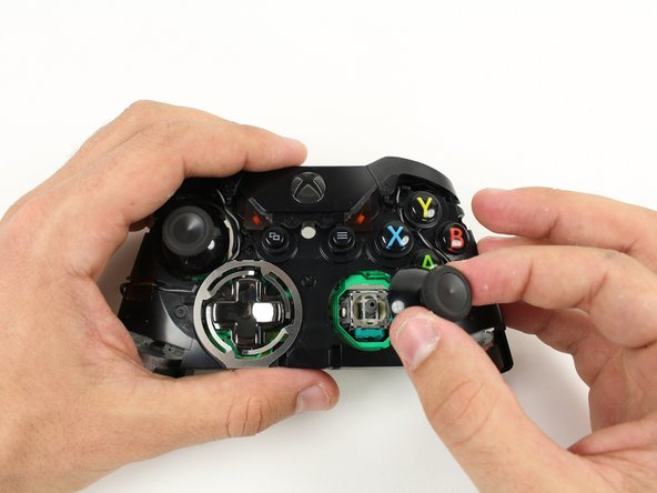 Remove thumbsticks by pulling them up off their poles.
