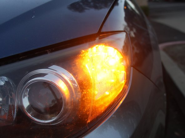 Now your front-turn signal should be working properly.