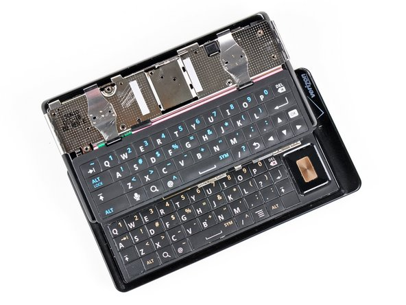 The second picture shows both Droid keyboards, with the Droid 2 obviously being on top.