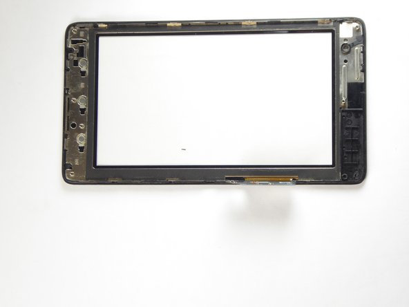 Tilt the tablet on its lengthy side, place your thumbs on the side and gently separate the LCD from the touchscreen.
