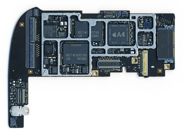 Image 1/2: The second shot is the main board from the Wi-Fi iPad.