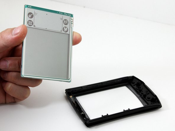 The LCD screen will easily come away from the front panel.