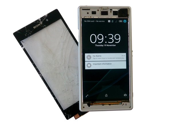 Sony Xperia Z1 Touch screen Glass Removal Replacement