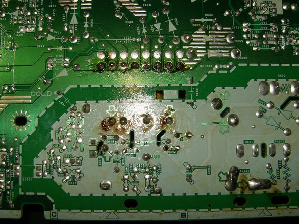 Ensure the all connections have been soldered and no accidental solder bridge was created. If it all looks satisfactory, reassemble the TV