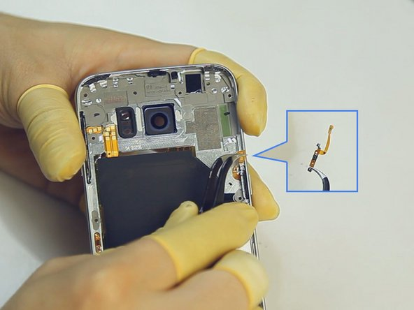 Image 1/3: Remove the [http://www.etradesupply.com/samsung-galaxy-s6-series-volume-button-flex-cable-ribbon.html|volume button flex].