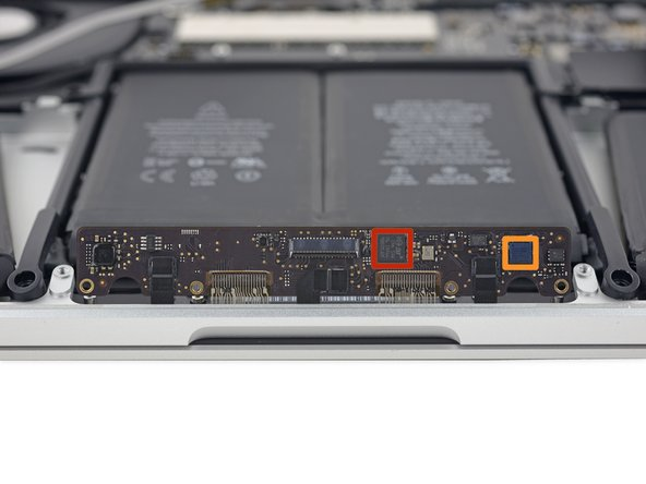 Apple decided to solder the largest cables onto the trackpad board, meaning we'll have to just flip it out of the way for now. Y U NO ZIF, Apple?