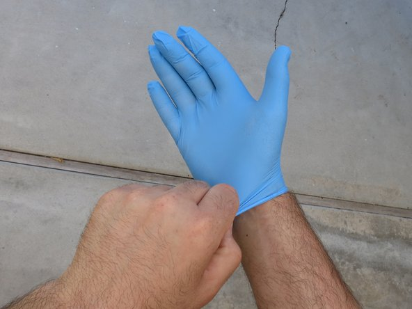 Time to get dirty. Put on your favorite brand of nitrile or latex gloves.