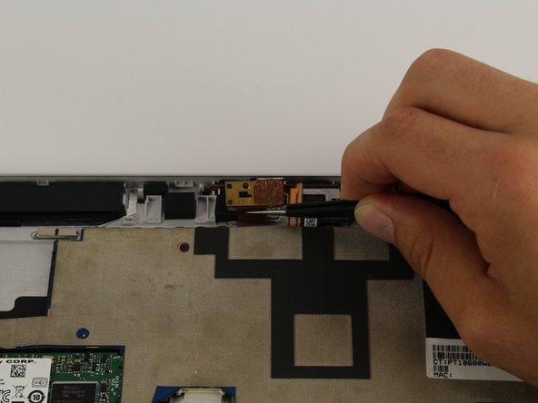Use a pair of tweezers to disconnect the flex cable from the motherboard.