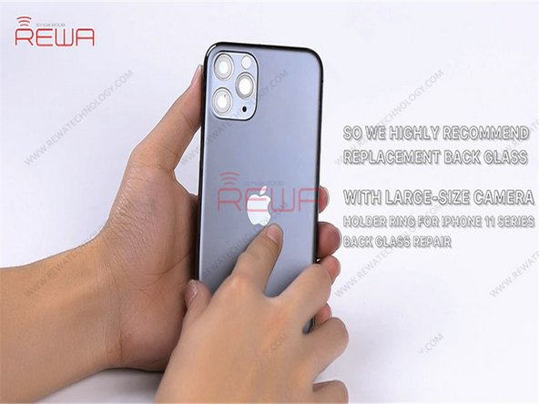 The camera holder ring of iPhone 11 series is harder and comes with thick inside walls, adding to the difficulty of polishing. Meanwhile, the camera lens can also be easily damaged during polishing.
