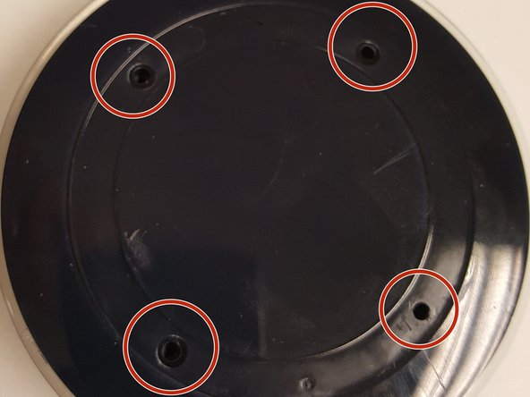 Once you have removed the padding ring you will notice (4) phillip head screws.