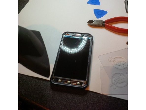 again heat the Phone to loose the adhesive under the lcd screen.