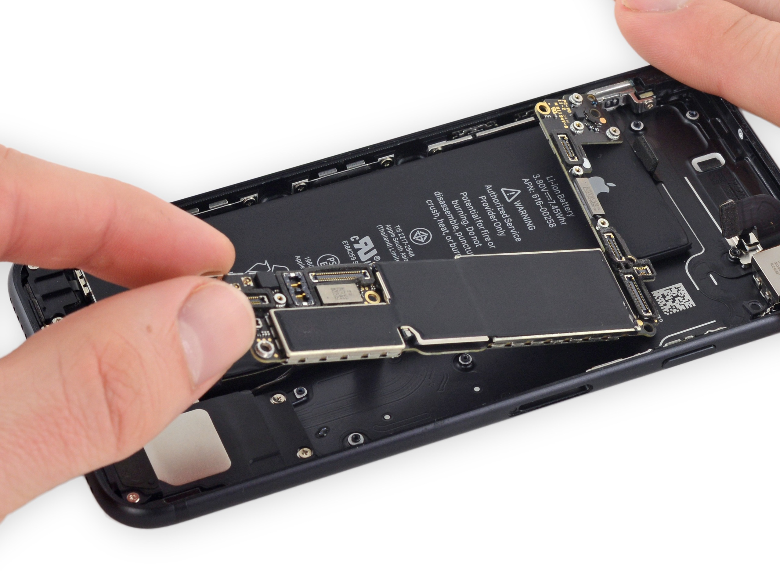 Iphone 7 Logic Board Replacement Ifixit Repair Guide Power Switch Is Pressed Digital Book Cricket Will Be Displayed