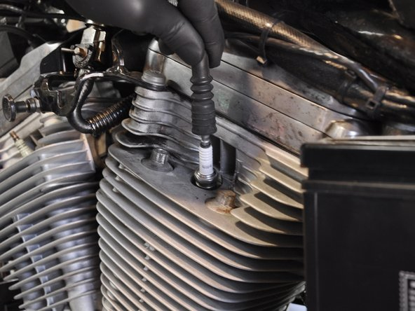Reinstall your spark plug wire by pushing it firmly onto the new plug.