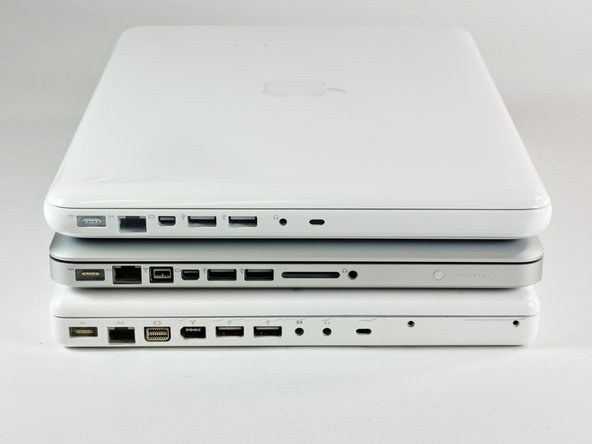 Image 1/2: '''FireWire is gone!''' If you need FireWire, now only a MacBook Pro will do.