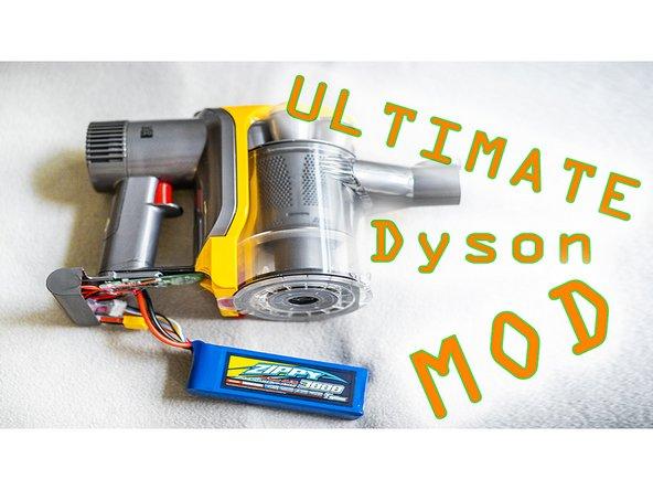 Akkus des Dyson DC30 durch LiPos ersetzen.