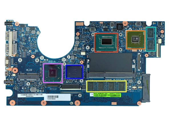 Image 1/1: Front of motherboard: