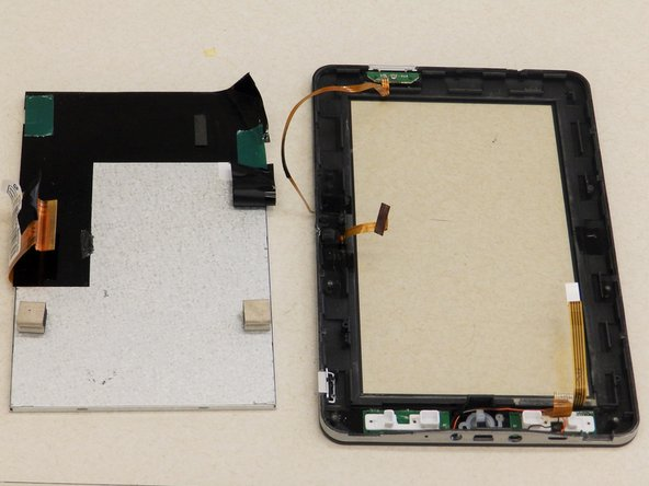 The digitizer is now free from the front frame and ready to be repaired or replaced.