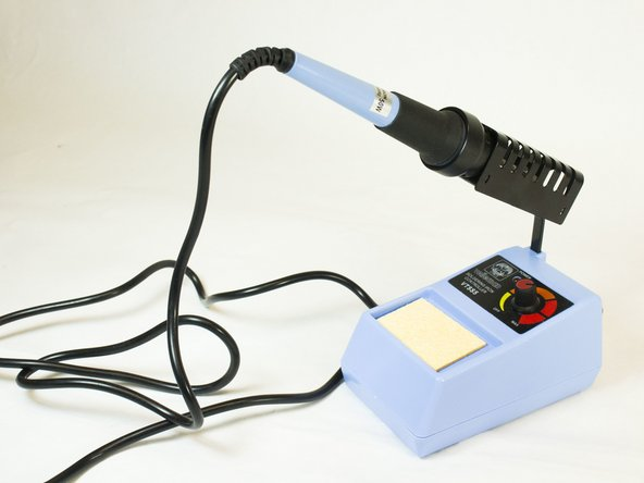 Plug in the soldering iron and let it reach optimum temperature.