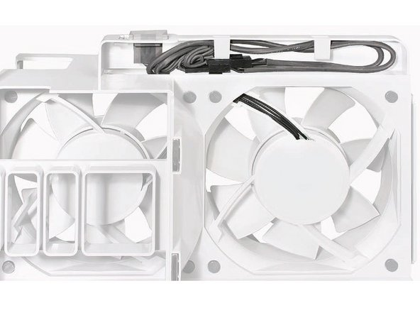 Replacement Note: Before re-installing the front fan assembly in the enclosure, make sure that the fan cables are routed correctly in the fan channel.