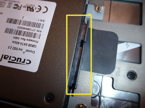 When installing a new hard drive, never forget to remove the SATA adapter before installation.
