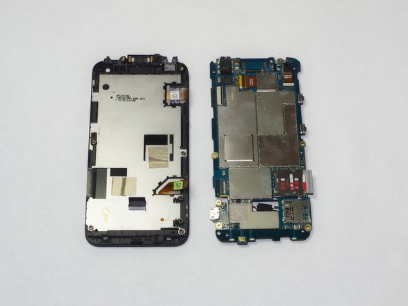 Remove tabs holding the motherboard to the phone.