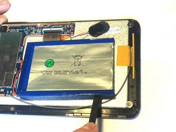 Image 3/3: The battery is heavily glued to the screen and much force may be needed to break the glued bond.