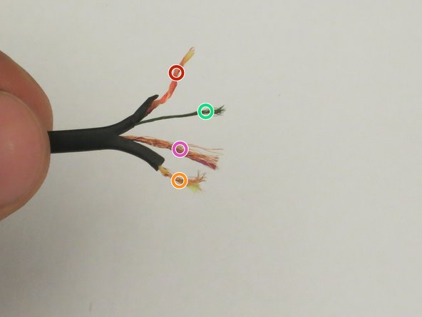 Use wire cutters to remove approximately 1/2 inch of insulation of the wire and separate the four wires inside of it.