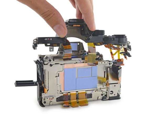 Sony a7R II mirrorless camera teardown
