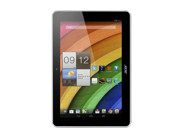 how to turn on acer iconia tab