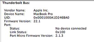 SOLVED: Thunderbolt Port not working correctly! - MacBook Pro 17